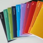 handgebundene Hefte - Farbfächer - aus-papier.de