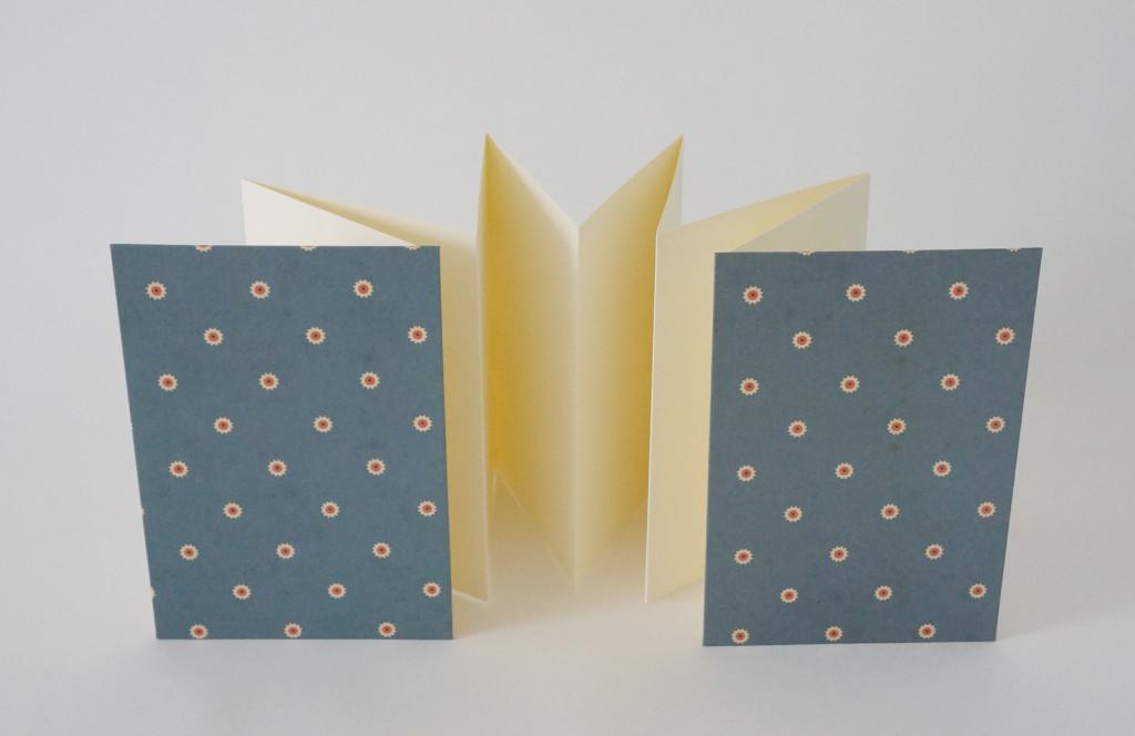 Leporello graublau - aus-papier.de