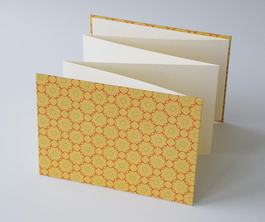 Leporello gelb - aus-papier.de